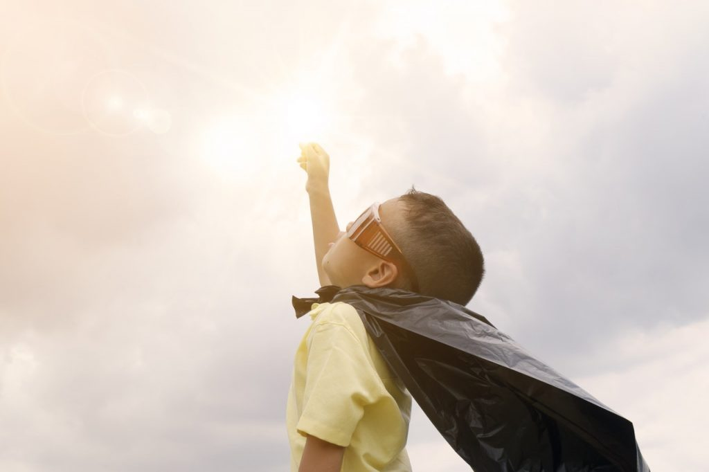 barn superhjälte